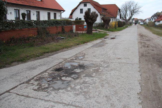 Wiesenweg in Vitte am 07.04.2014