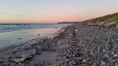 Der Südstrand in Vitte auf Hiddensee am 09.02.2015.