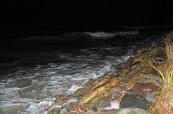 Sturmflut am 04.01.2017 am Strand in Neuendorf