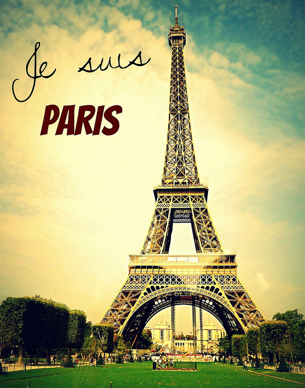 """To Paris My Love #NousSommesUnis We Are United""— Kaylaa T. Blackwell"