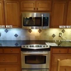 Under Kitchen Cabinet Lights Island Home Depot Led Light Color Temperature: Warm Vs Cool White ...