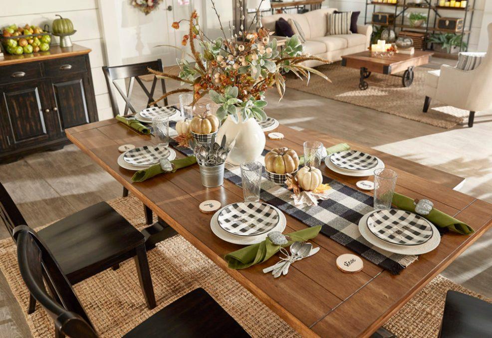 iNSPIRE Q Farmhouse Holiday Decor-- Thanksgiving table decor