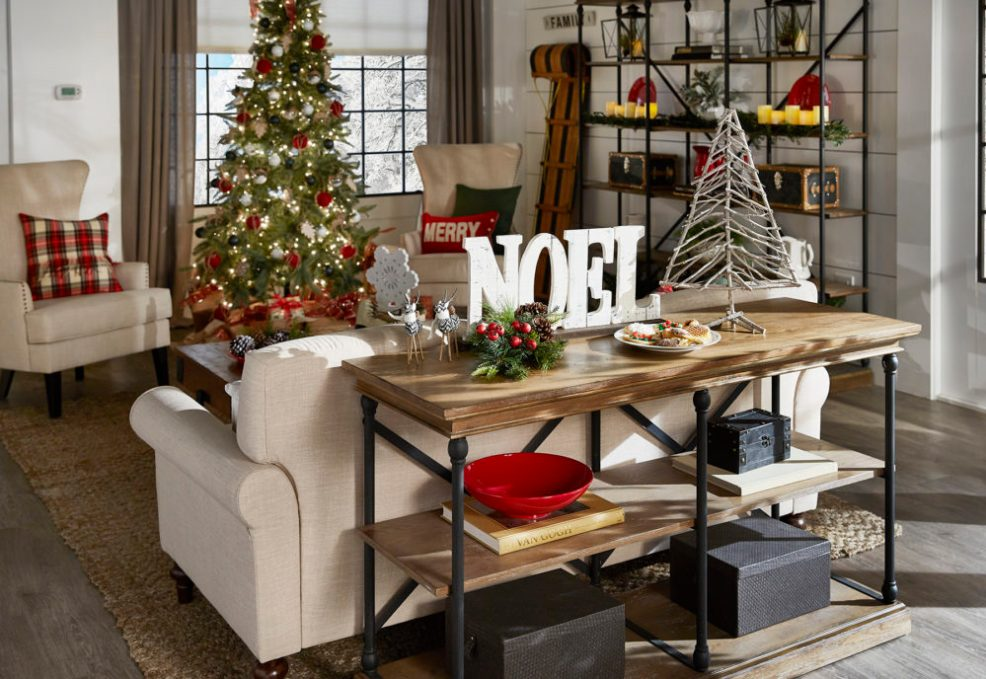iNSPIRE Q Farmhouse Holiday Decor-- Christmas Tree with presents