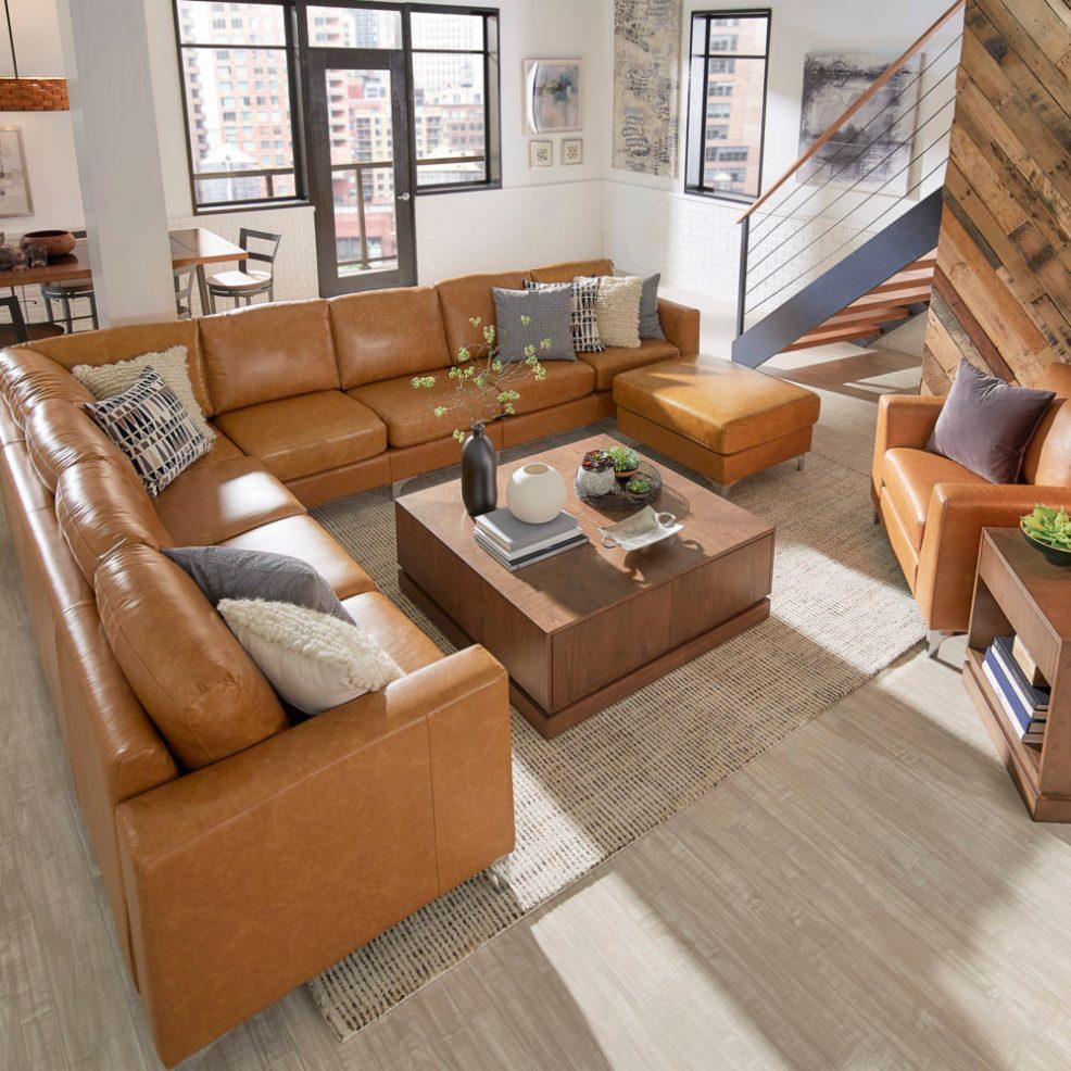 iNSPIRE Q Modern Bastian Aniline Sofa