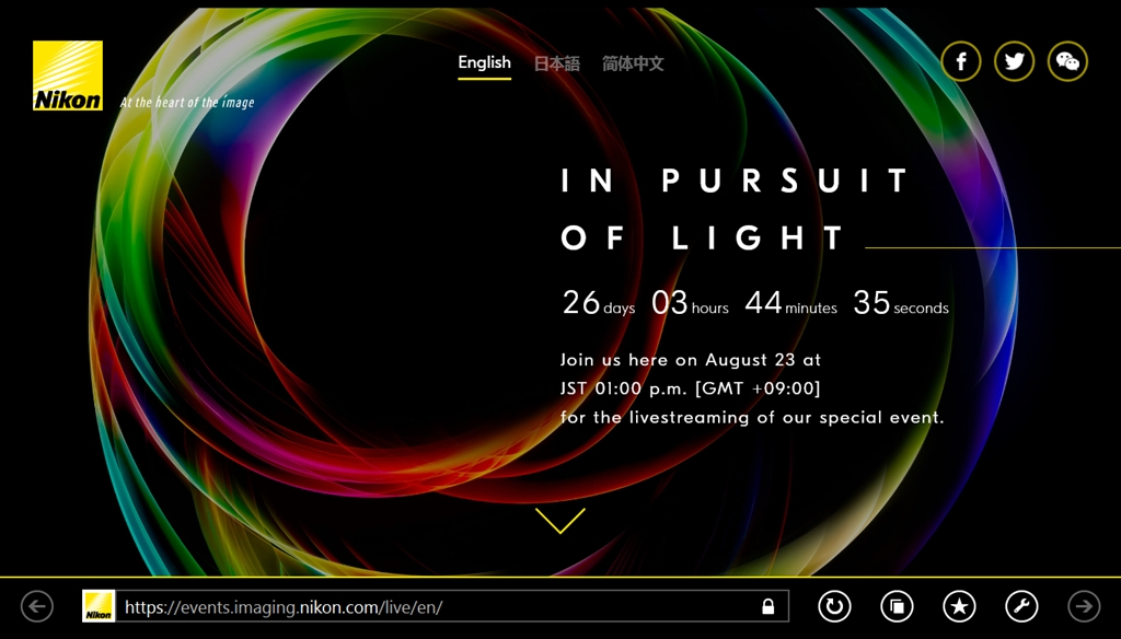 Nikon-In pursuit of light-Countdown