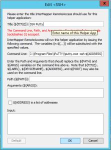 Configurez un Helper SSH avec Intermapper