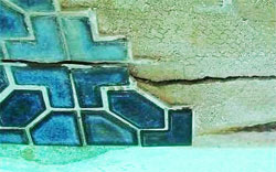 small repairs to swimming pool tile