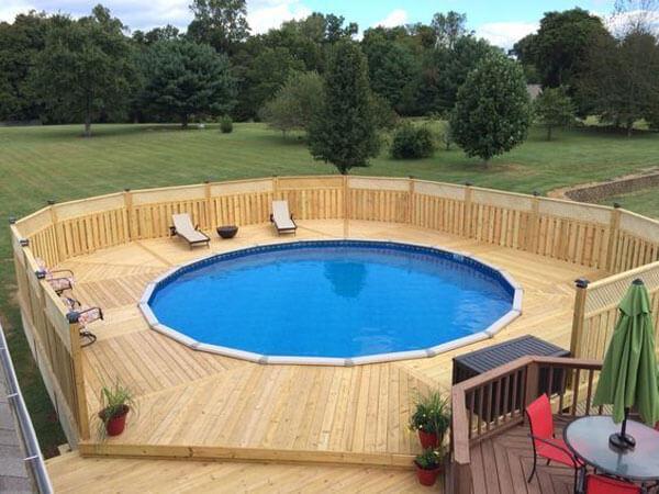 Deck Above Ground Round Pool