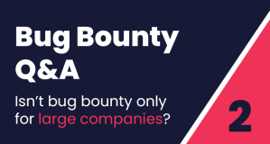 Bug Bounty Q&A #2: Isn't bug bounty only for large companies with large budgets?