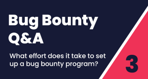 Bug Bounty Q&A #3: What effort does is take to set up a bug bounty program?