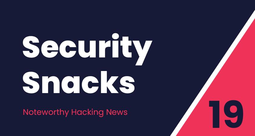 Security Snacks #19 – CVE trends, Faulty ShareIt & Centreon hack