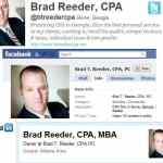 social media savvy examples for accountants