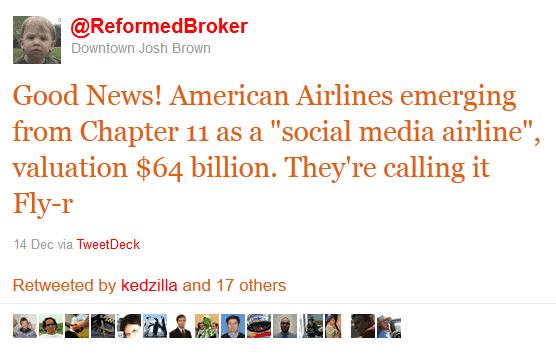 retweets from financial advisor, joshua brown