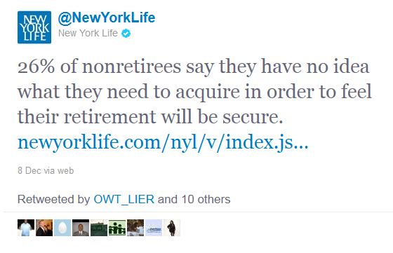 retweets on twitter -  New York Life, Insurance