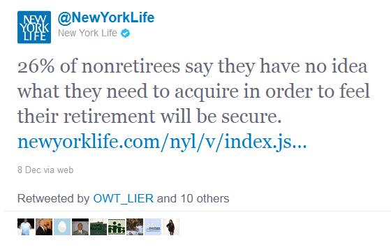 retweets on twitter -  New York Life, Insurance