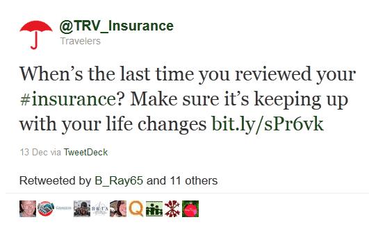 twitter marketing - TRV, Insurance