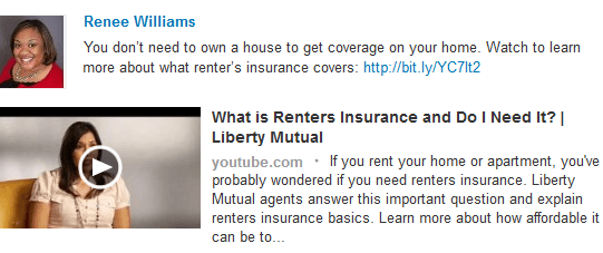 Renee Williams, Insurance Agent > Liberty Mutual's Youtube channel