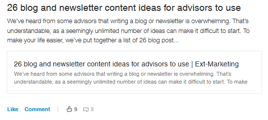 blog and newsletter content