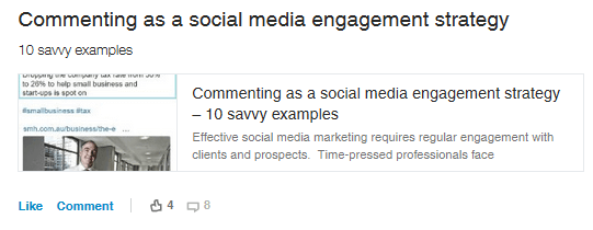 commenting as a social media strategy