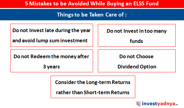 5 MIstakes to be Avoided while Buying ELSS Fund