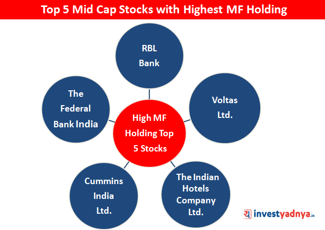 Top 5 Midcap Stocks with Highest MF Holding