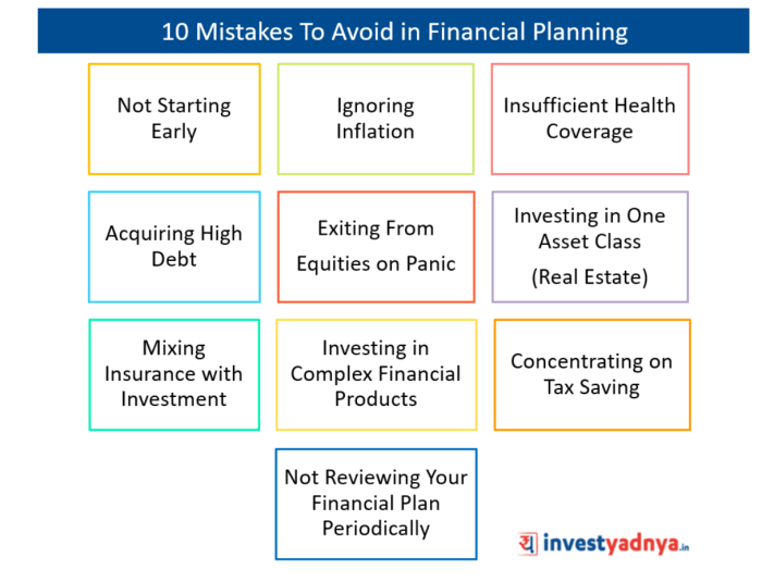 Mistakes To Avoid in Financial Planning