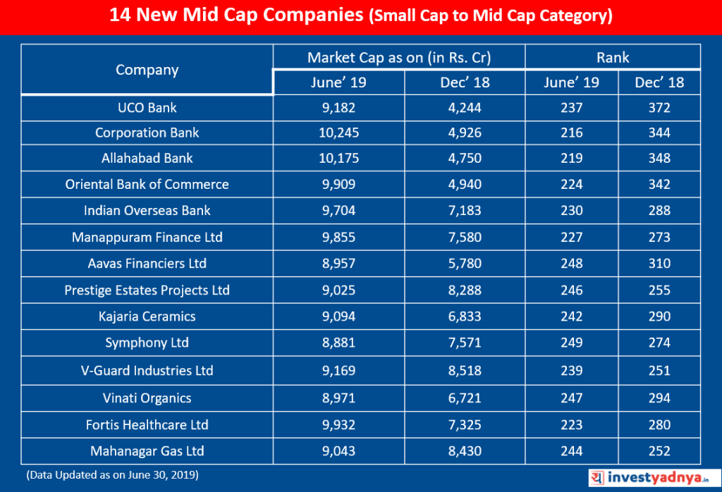 14 New Mid Cap Companies