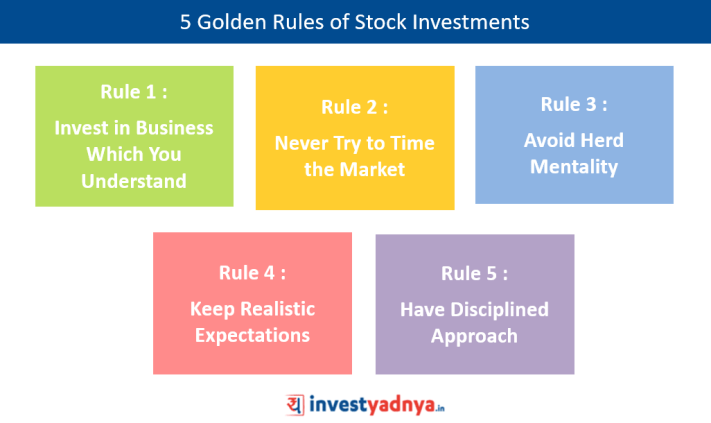5 Golden Rules of Stock Investments