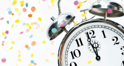 Alarm Clock with New Years Confetti