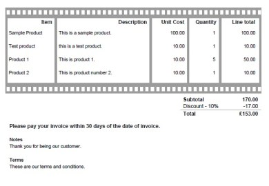 Business Invoice Templates Free Sample And Example Of