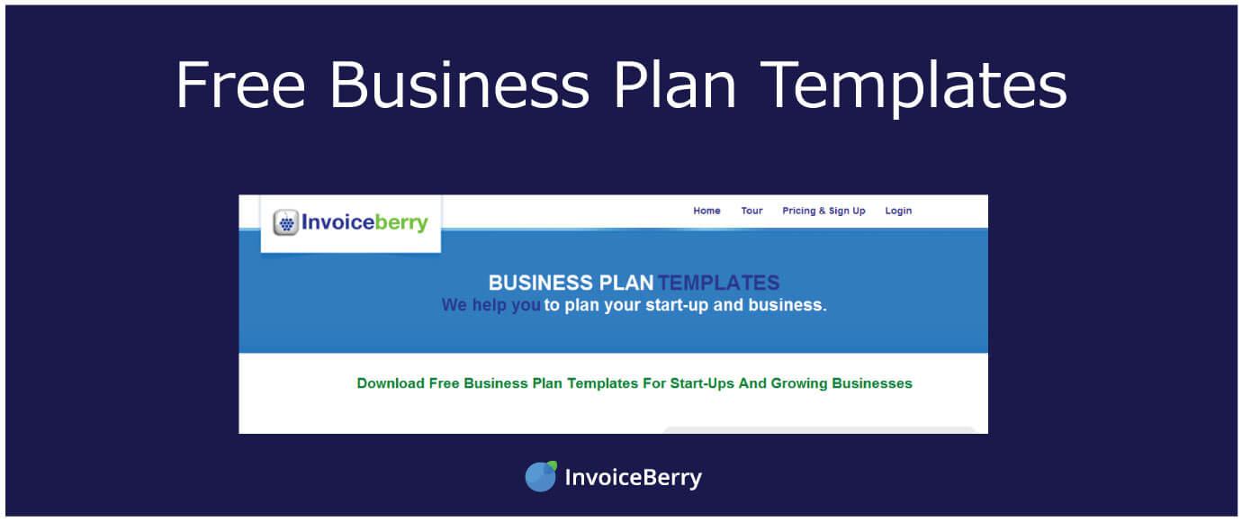 Free Business Plan Templates InvoiceBerry Blog
