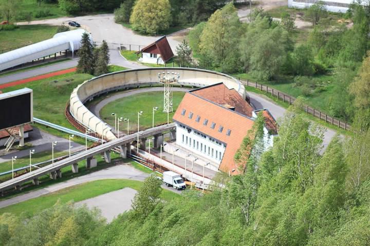 Bobsleighing in Sigulda, Latvia