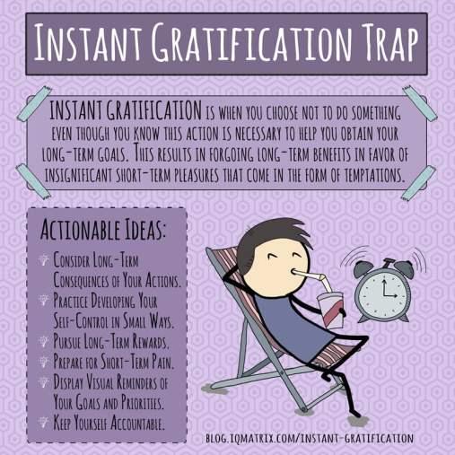 Výsledek obrázku pro instant gratification