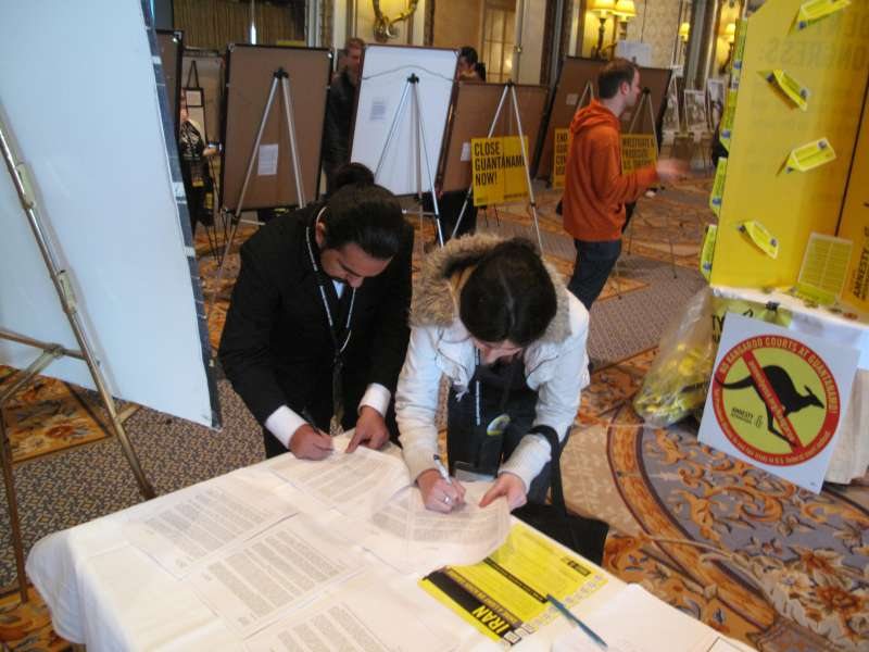 ABF's Interrupted Lives exhibit at the Amnesty International AGM, March 2011.