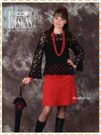 black lace ribbon blouse