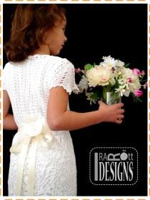 bridesmaid christening crochet dresses