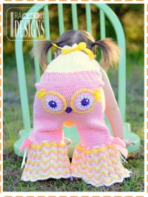 crochet owl pants