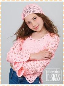 flower motif blouse