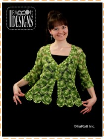 green lace cardigan