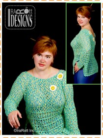 green with daisies blouse