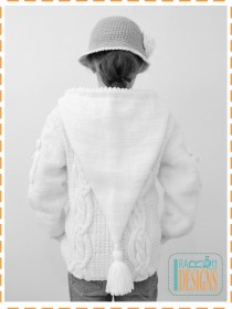 knit aran sweater with hood2