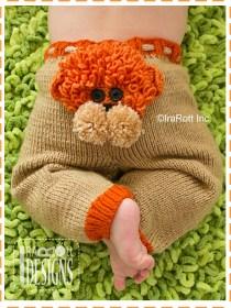 knit lion pants