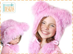 pink polar bear hat