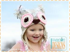 pinkberry owl hat