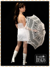 white wedding parasol