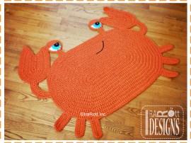 crochet cranky crab rug