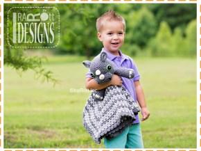 crochet rhino lovey