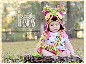 pink berry owl hat