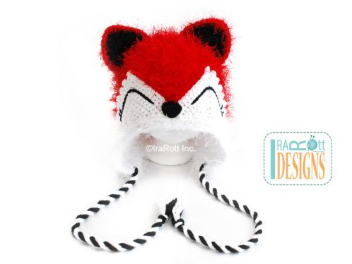 Fox Hat with Twisted Ties crochet pattern by Irarott