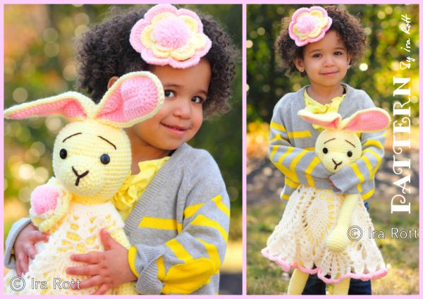 Sunny the Hip Hop Easter Bunny Rabbit Stuffed Animal & Headband Crochet Pattern